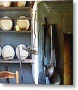 Ladles And Spatula In Kitchen Metal Print