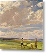 Lady Astor Playing Golf At North Berwick Metal Print