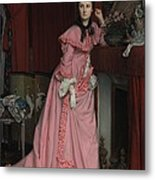 Lady At The Fireplace   Metal Print