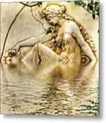 Lady Bathing 2 Metal Print