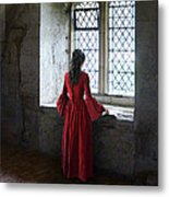 Lady By The Window Metal Print