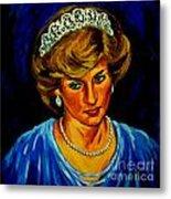 Lady Diana Portrait Metal Print