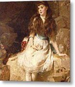 Lady Edith Amelia Ward Daughter Of The First Earl Of Dudley Metal Print