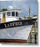 Lady Eva Shrimp Boat Metal Print