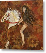 Lady Godiva Rides For Love Metal Print