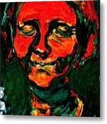 Lady In Orange Metal Print by Michelle Dommer
