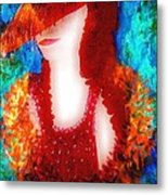 Lady In Red 2 Metal Print