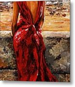 Lady In Red  34 -  I Love Budapest Metal Print