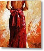 Lady In Red  39 Metal Print