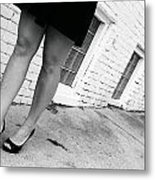 Lady In The Street Metal Print
