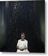 Lady In The Woods Metal Print