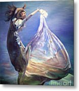 Lady In Water Oil On Canvas Painting Realsim  Metal Print