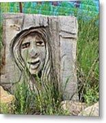 Lady In Wood Metal Print