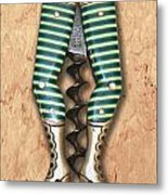 Lady Legs Corkscrew Painting Metal Print