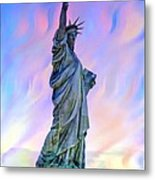 Lady Liberty Blues Metal Print