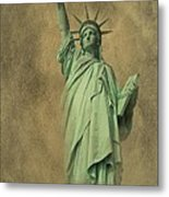 Lady Liberty New York Harbor Metal Print