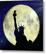 Lady Liberty Nyc - Featured In Comfortable Art Group Metal Print