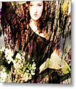 Lady Of Bark Metal Print