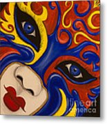 Lady Of Fire And Ice Metal Print