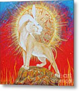 Lady Of Flame Metal Print