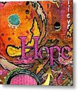 Lady Of Hope - A Breast Cancer Donation Metal Print