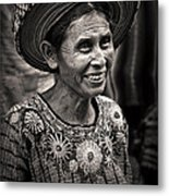 Lady Of Santiago Atitlan Metal Print