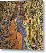Lady Of Swirl Metal Print