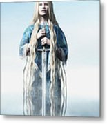 Lady Of The Lake Metal Print by Melissa Krauss