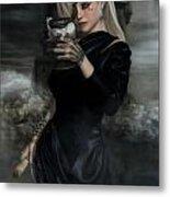 Lady Of The Sea Wind Metal Print