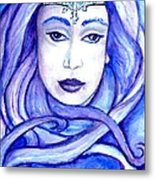 Lady Of The Winter Solstice Metal Print