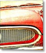 Lady On Red Metal Print