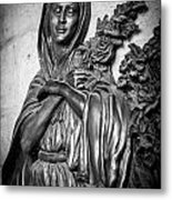 Lady On The Wall Metal Print