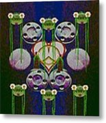 Lady Panda Welcomes Spring In Love And Light And Peace Metal Print