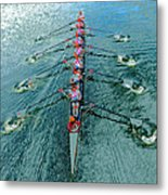 Lady Scullers Metal Print