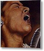 Lady Sings Metal Print