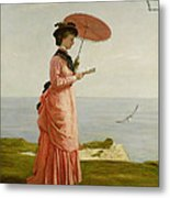 Lady Tennyson On Afton Downs Metal Print