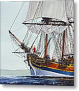 Lady Washington And Captain Gray Metal Print by James Williamson