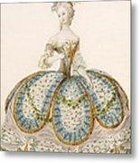 Lady Wearing Dress For A Royal Metal Print