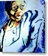 Lady With A Cane Metal Print