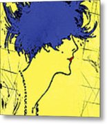 Lady With Hat 2c Metal Print