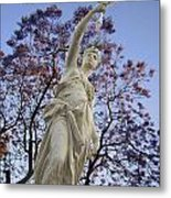 Lady With The Light Metal Print
