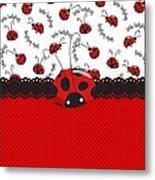 Ladybug Sweet Surprises  Metal Print