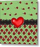 Ladybugs Hearts Desires  Metal Print