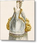 Ladys Ball Gown, Engraved By Dupin Metal Print