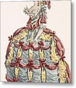 Ladys Gown For Cour A Leiquette Metal Print