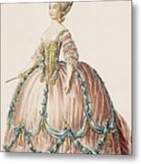 Ladys Gown For The Royal Court Metal Print
