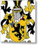 Laffan Coat Of Arms Irish Metal Print