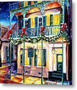 Lafitte Guest House At Christmas Metal Print