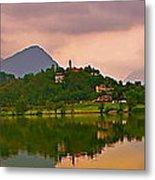 Lago Di Muzzano Mystique Metal Print