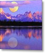 Lago Pehoe In Torres Del Paine Chile Crayons Metal Print